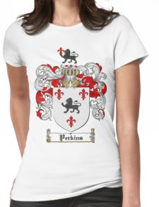Perkins Family Crest / Perkins Coat of Arms T-Shirt Womens Fitted T-Shirt