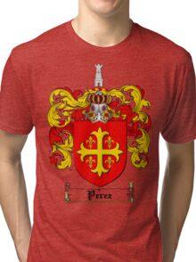 Perez Family Crest / Perez Coat of Arms T-Shirt Tri-blend T-Shirt