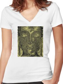 Buddha of Compassion 1 - Design 4 Women's Fitted V-Neck T-Shirt