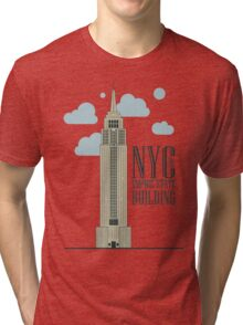 nyc, the empire state building Tri-blend T-Shirt