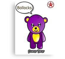Geek Girl - SwearBear - Bollocks Canvas Print