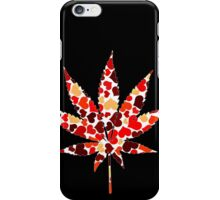 Love and Weed - Love and Pot - Weed leaf with hearts! :D Pouch iPhone Case/Skin