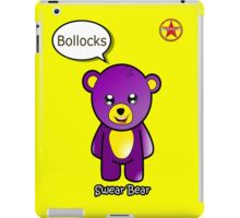 Geek Girl - SwearBear - Bollocks iPad Case/Skin