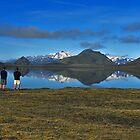 Lake Álftavatn reflection by Árni  Tryggvason