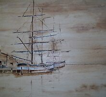 Tall ships by Alan Harris