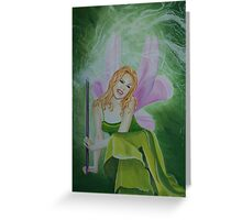 Kylie the Green Fairy Greeting Card