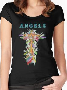 Angels. [After Gustav Dore] Women's Fitted Scoop T-Shirt