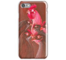 Henpecked In Red iPhone Case/Skin