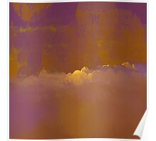 Sunset in Golden-Red and Purple Poster