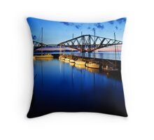 Queensferry Harbour at Dawn Throw Pillow