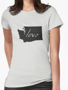 Love Washington Womens Fitted T-Shirt