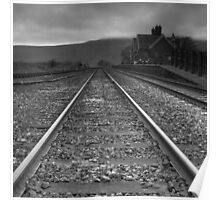Ribblehead Station looking towards Whernside Poster