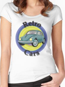 Retro Cars Women's Fitted Scoop T-Shirt