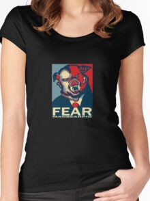 MANBEARPIG IS SUPER SERIAL! Women's Fitted Scoop T-Shirt