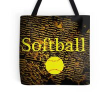 Softball in Yellow, Brown, and Black Tote Bag