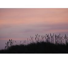 The day ends over the dunes Photographic Print