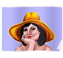 Yellow-hatted lady 178 views Poster