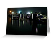 Night time at a Marina Greeting Card