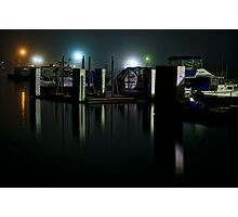 Night time at a Marina Photographic Print