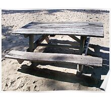 Beached Bench Poster