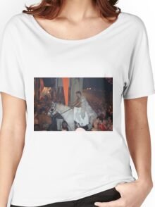 Rave Cowboy Angel on White Horse Women's Relaxed Fit T-Shirt