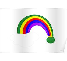 Pot of Gold Over The Rainbow Poster