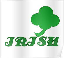 Lucky Irish Green Four Leaf Clover Poster