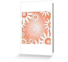 Flower Daisies Background Greeting Card