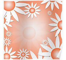Flower Daisies Background Poster