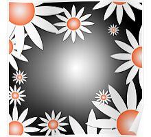Flower Daises Background Poster