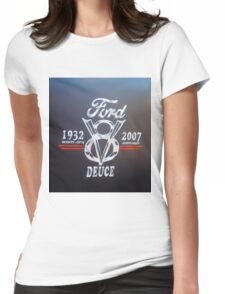 Ford V8 Womens Fitted T-Shirt