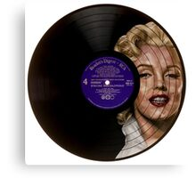 Marilyn Monroe Record Portrait  Canvas Print