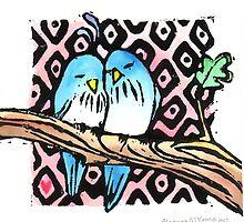 Blue Birds by RabbitMcComb
