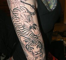 Tiger outline by KittyElixir
