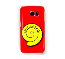 """Buttons """"Guten Tag"""" rot, gelb unt schwarz Samsung Galaxy Case/Skin"""