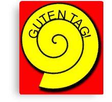 """Buttons """"Guten Tag"""" rot, gelb unt schwarz Canvas Print"""