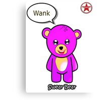 Geek Girl - SwearBear - Wank Canvas Print