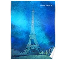Paris in Blue Poster
