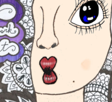"5 sos zentangle ''she looks so perfect"" Sticker"