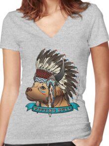 Pitting Bull Women's Fitted V-Neck T-Shirt