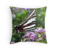 Frilly flowers for flutter's to feed Throw Pillow