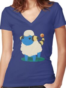 Do androids dream of Mareep? Women's Fitted V-Neck T-Shirt