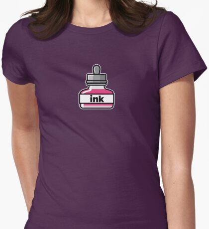 Pink Ink Womens Fitted T-Shirt
