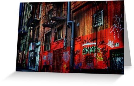 Chinatown Alley by Barbara  Brown