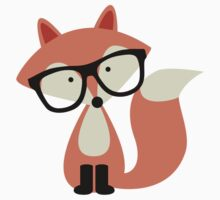 Cute Hipster Red Fox by heartlocked