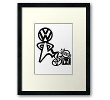 vw steppin on  Framed Print