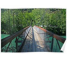Bridge over the Skagit River Poster