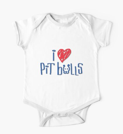 I Love Pit Bulls (Light Colors) One Piece - Short Sleeve
