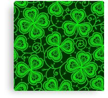 Clover. Lace. Seamless pattern. Canvas Print