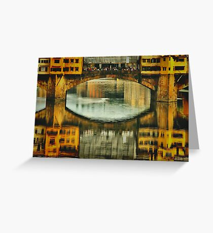 Ponte Vecchio Reflections Greeting Card